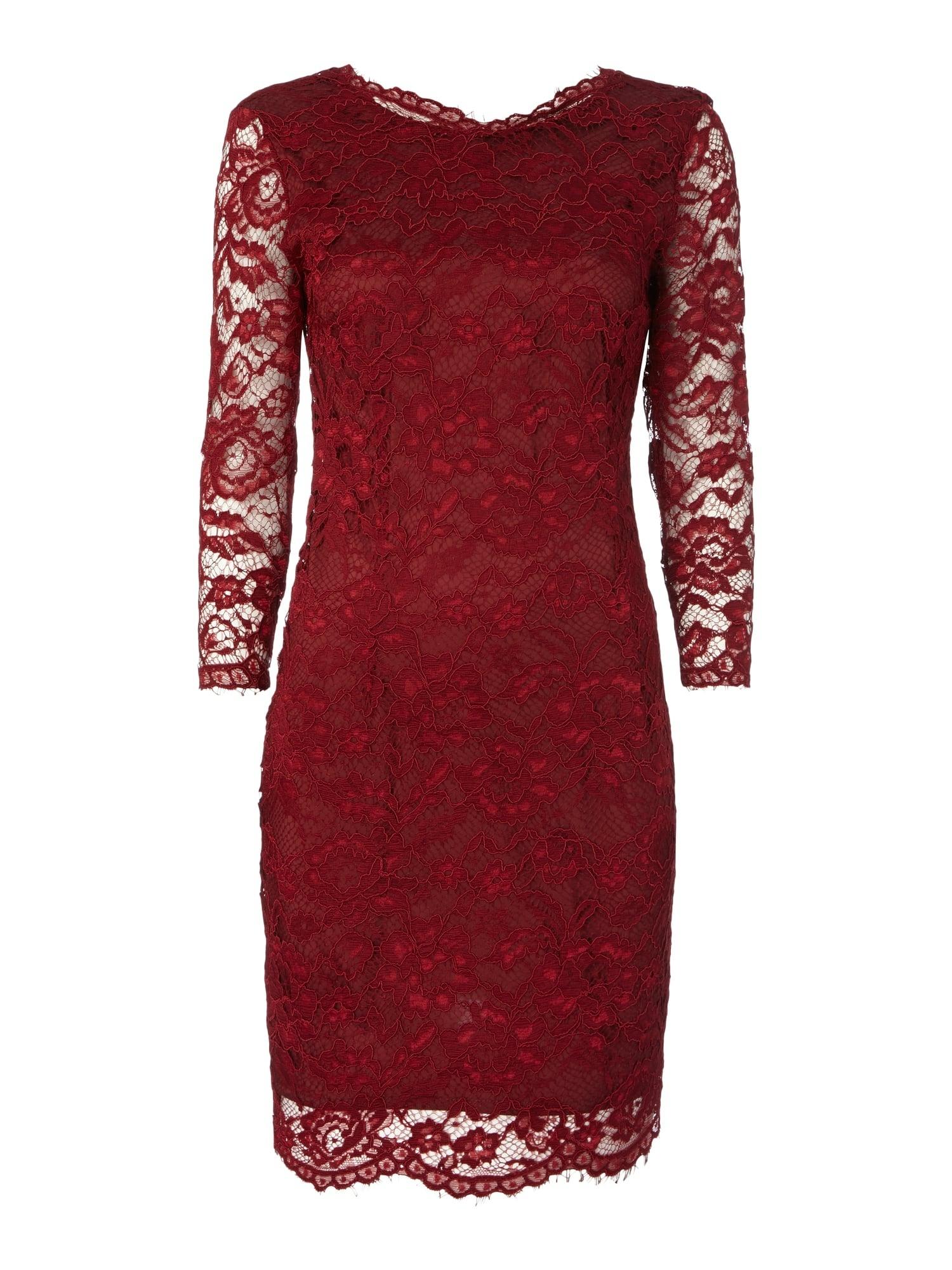 Abend Wunderbar Bordeaux Kleid Spitze Spezialgebiet13 Genial Bordeaux Kleid Spitze Design