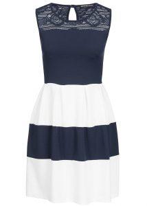 Formal Coolste Kleid Blau Weiß Vertrieb Genial Kleid Blau Weiß Ärmel