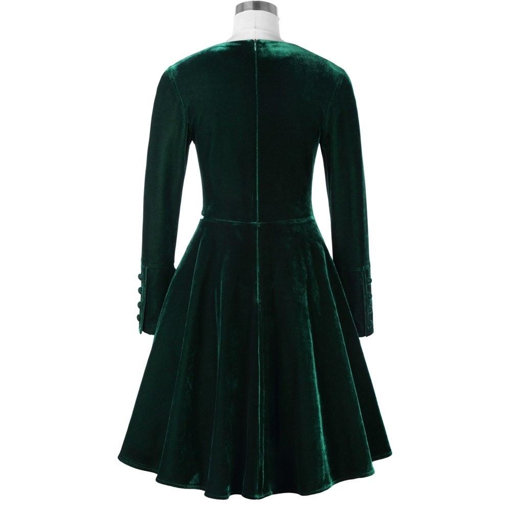 Designer Top Kleid Dunkelgrün Langarm Bester PreisDesigner Leicht Kleid Dunkelgrün Langarm Ärmel