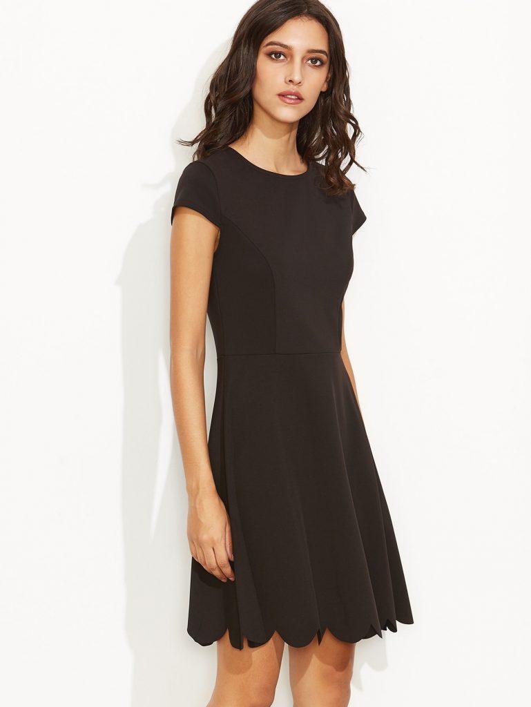 Designer Ausgezeichnet Elegante Kleider Kurz Ärmel ...
