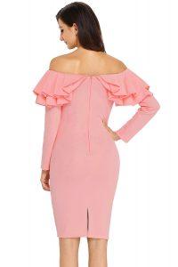 Designer Erstaunlich Kleid Rosa Langarm für 2019Designer Perfekt Kleid Rosa Langarm für 2019