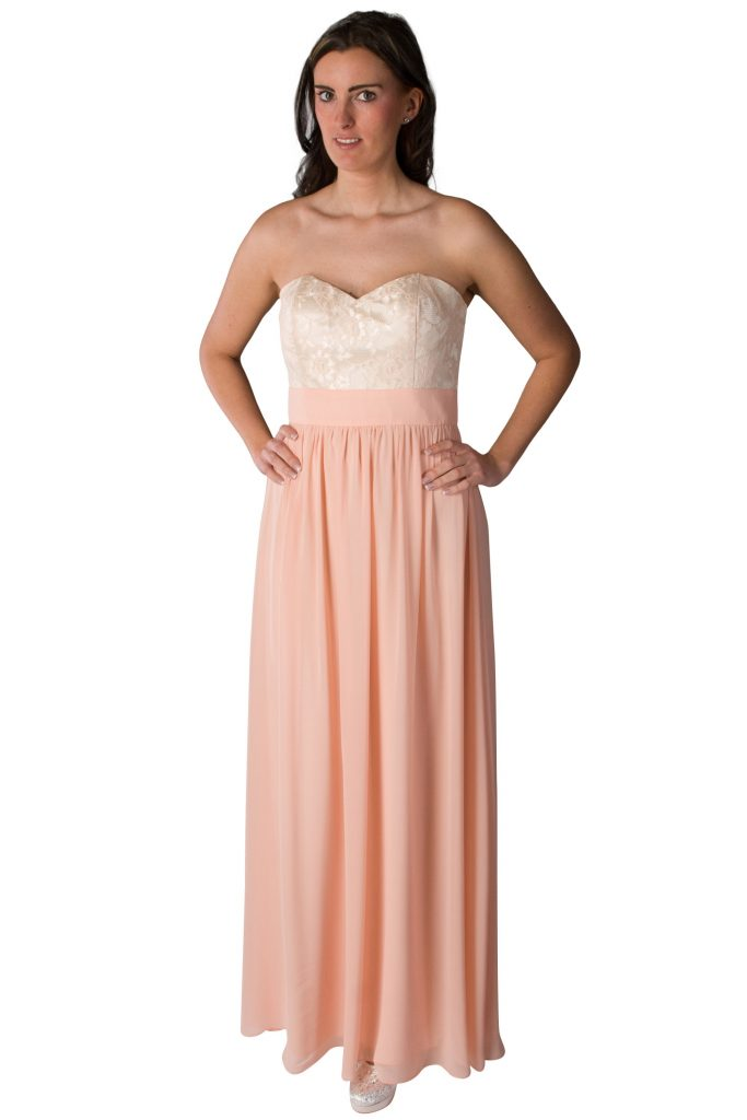designer cool rosa kleid lang spitze bester preis  abendkleid
