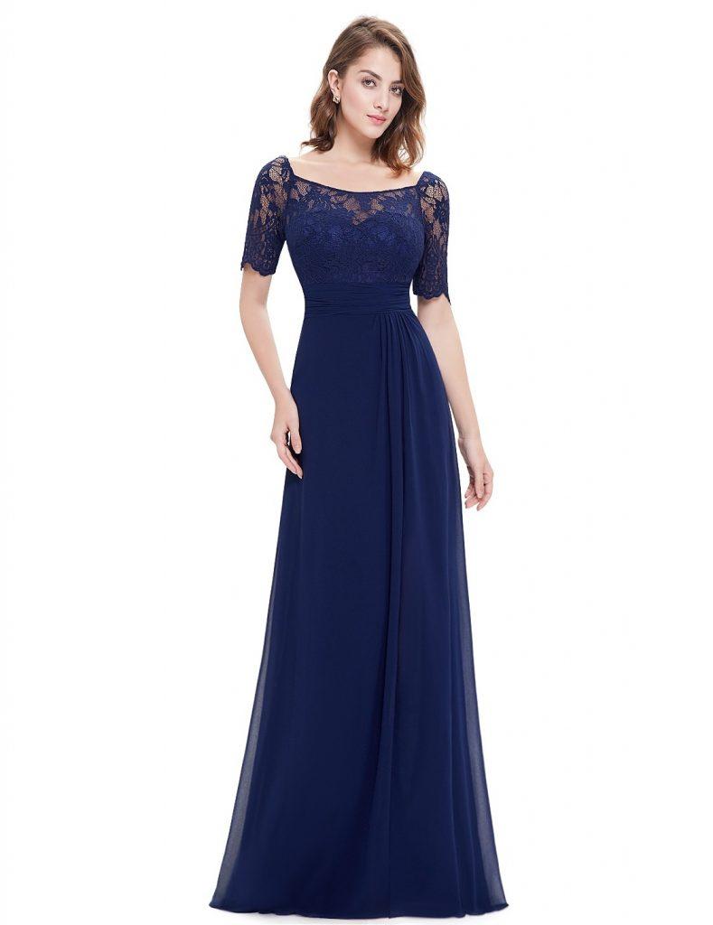 Designer Coolste Abendkleid Dunkelblau Lang für 10 - Abendkleid