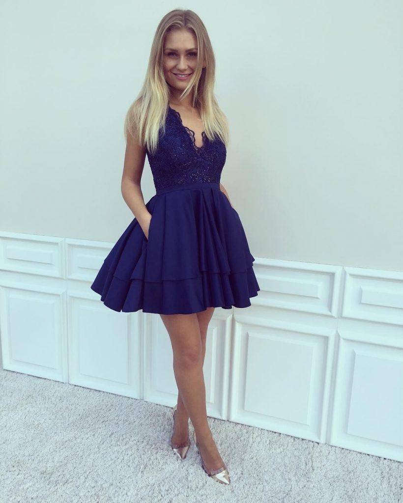 Designer Einfach Abendkleider Kurz Günstig für 18 - Abendkleid