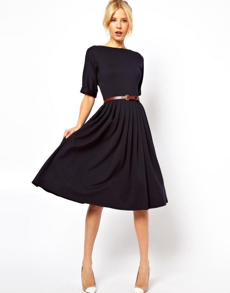 Designer Einzigartig Schwarzes Kleid Midi Vertrieb - Abendkleid