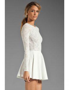 10 Fantastisch Weißes Kleid Langarm für 2019Formal Schön Weißes Kleid Langarm Galerie