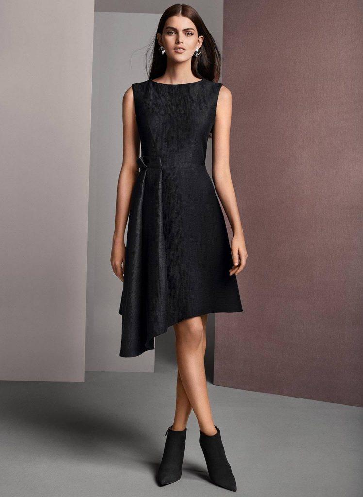 Schwarzes kleid knielang spitze