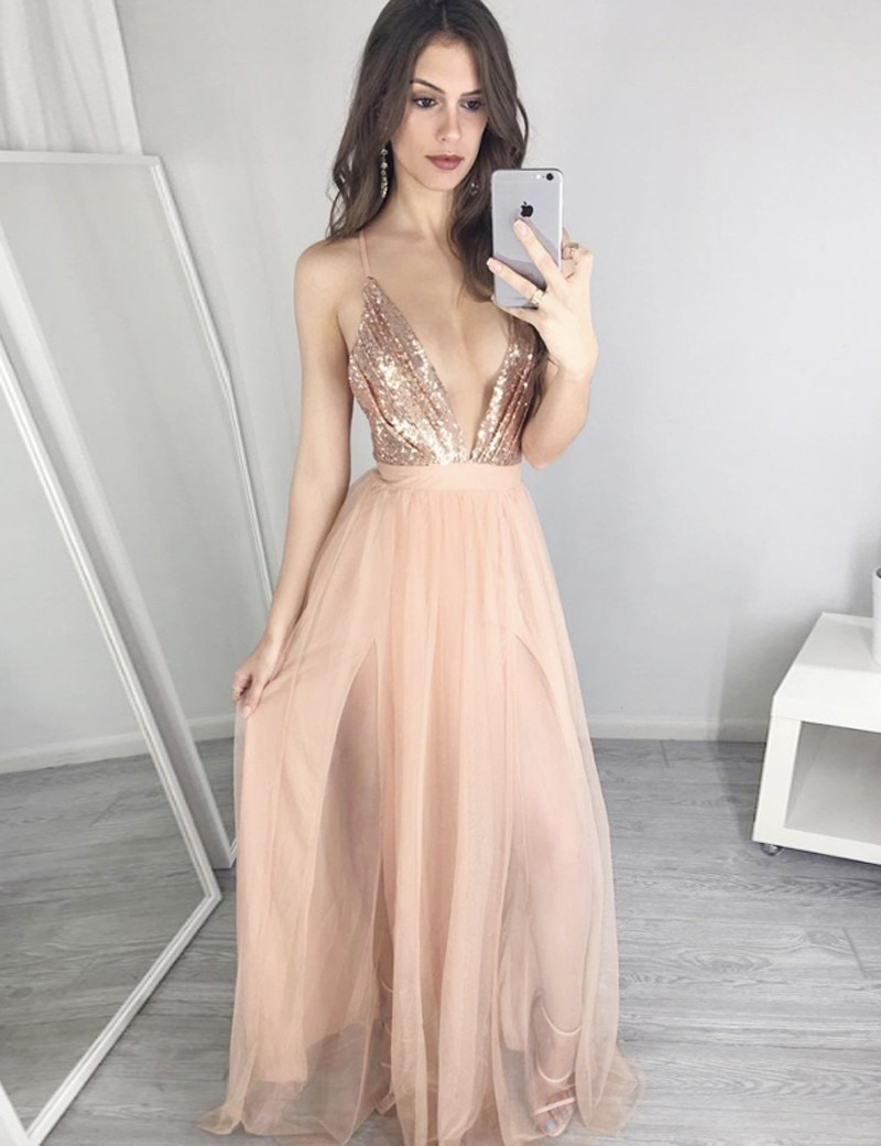 Designer Genial Abendkleid Lang V Ausschnitt für 201915 Wunderbar Abendkleid Lang V Ausschnitt Vertrieb