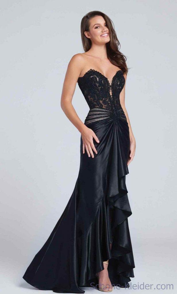Designer Genial Elegante Abendkleider Lang Schwarz Armel Abendkleid