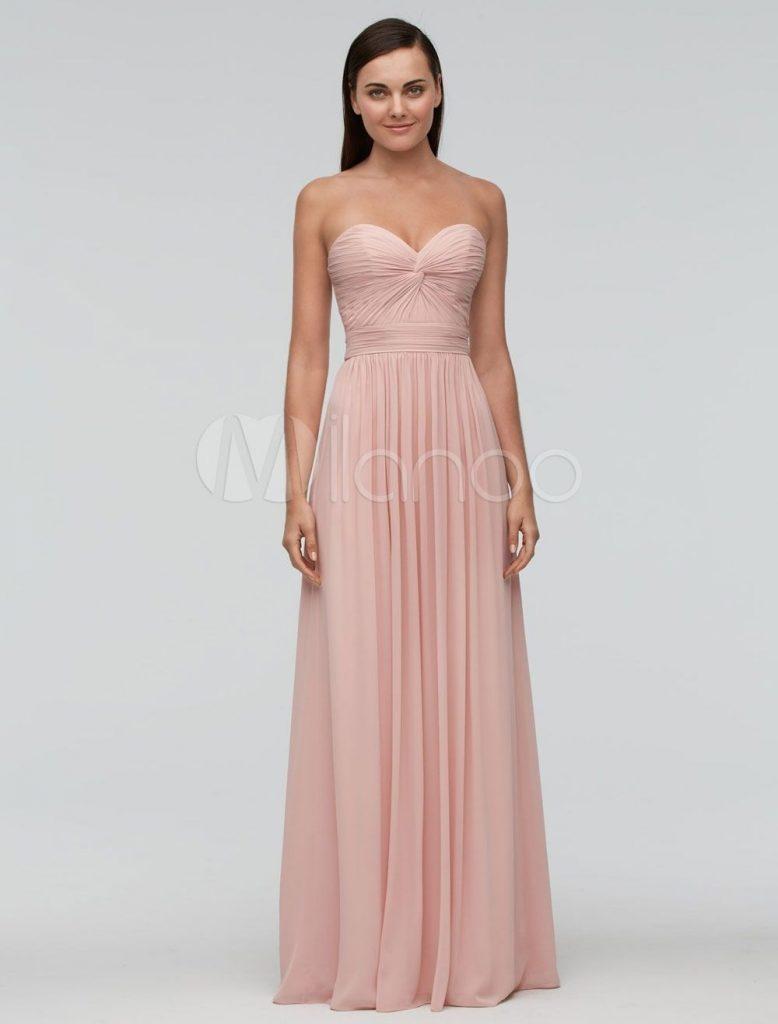 Kleid Design Altrosa Abendkleid Designer Lang Großartig EID2WH9