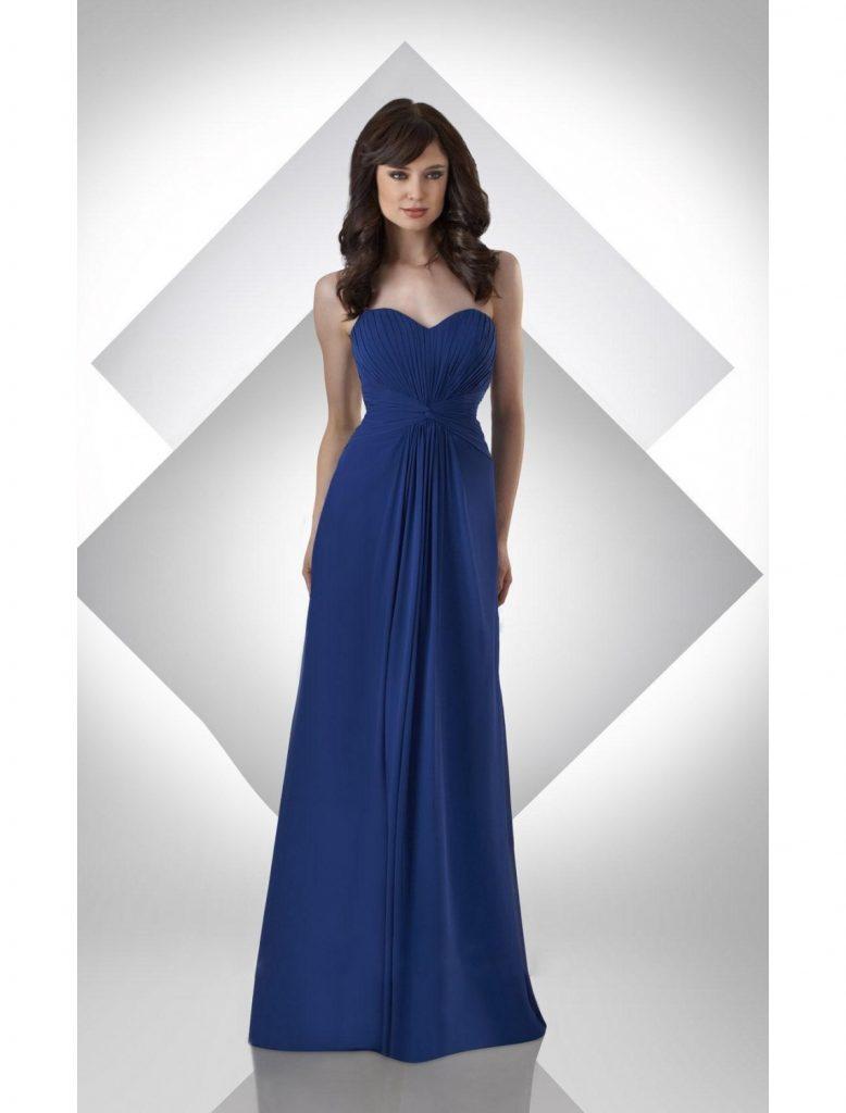 designer kreativ kleid lang blau vertrieb - abendkleid