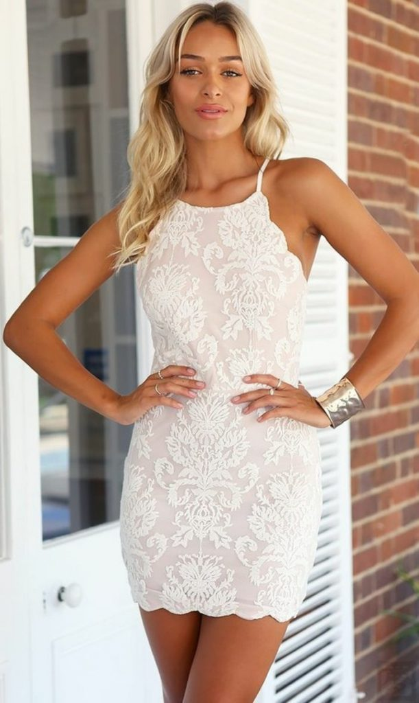 Designer Leicht Weißes Kleid Elegant Galerie - Abendkleid