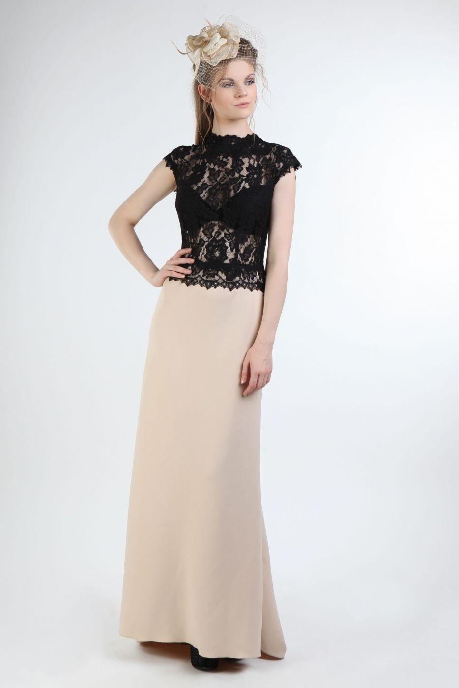 Formal Fantastisch Abendkleid Creme Lang für 201917 Schön Abendkleid Creme Lang Stylish