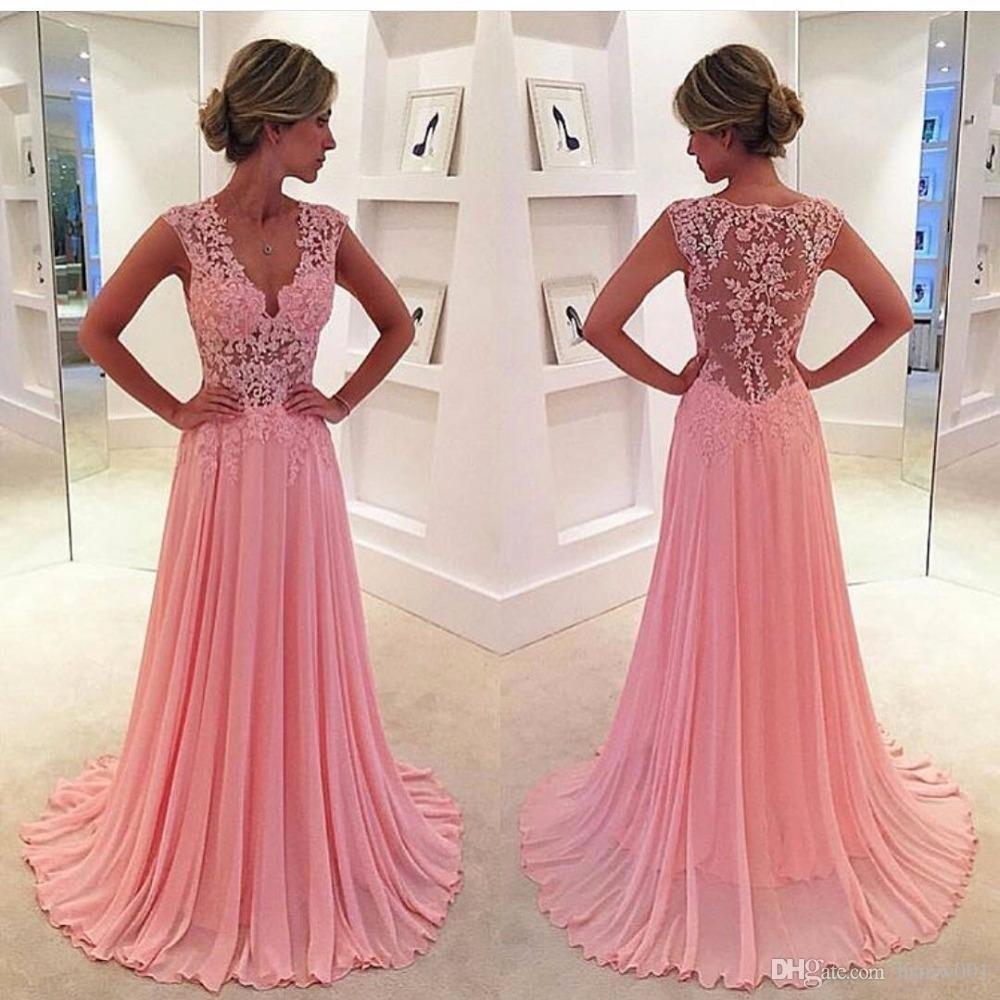 Designer Luxus Abendkleider Aus Spitze Lang Vertrieb - Abendkleid