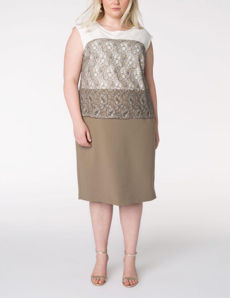 Designer Luxus Kleid Grau Spitze Galerie - Abendkleid