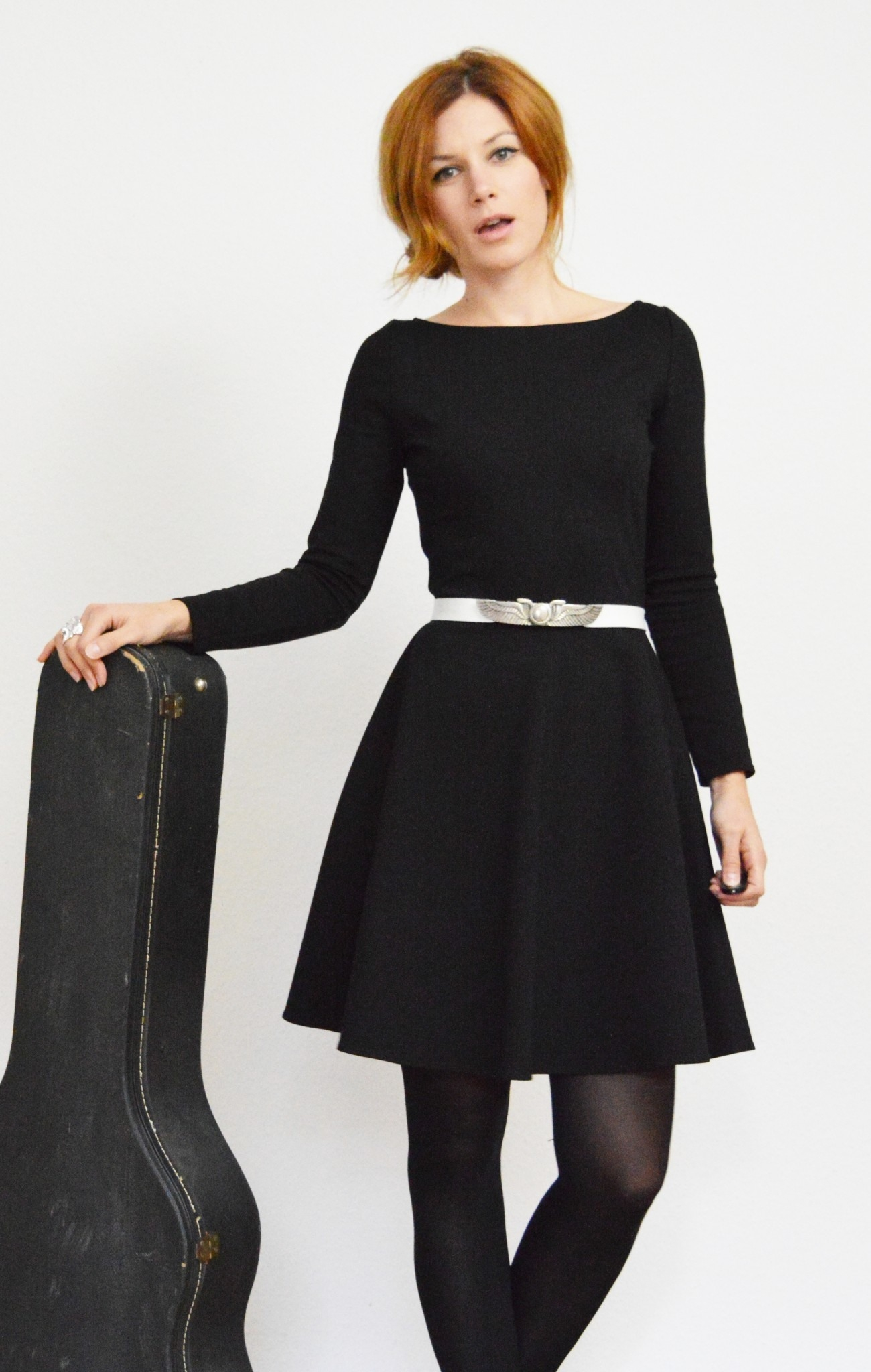 Kleid Mit Glockenrock Lang