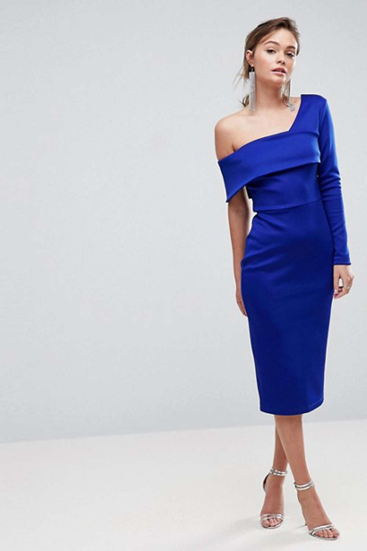 Abend Schön Blaues Kleid Hochzeitsgast SpezialgebietFormal Top Blaues Kleid Hochzeitsgast für 2019