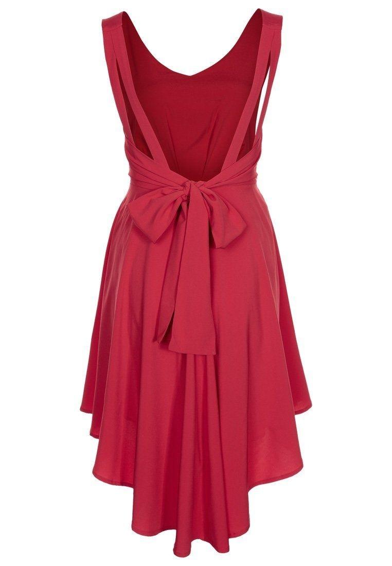 Abend Wunderbar Kleid Rot Festlich Ärmel Einfach Kleid Rot Festlich Galerie