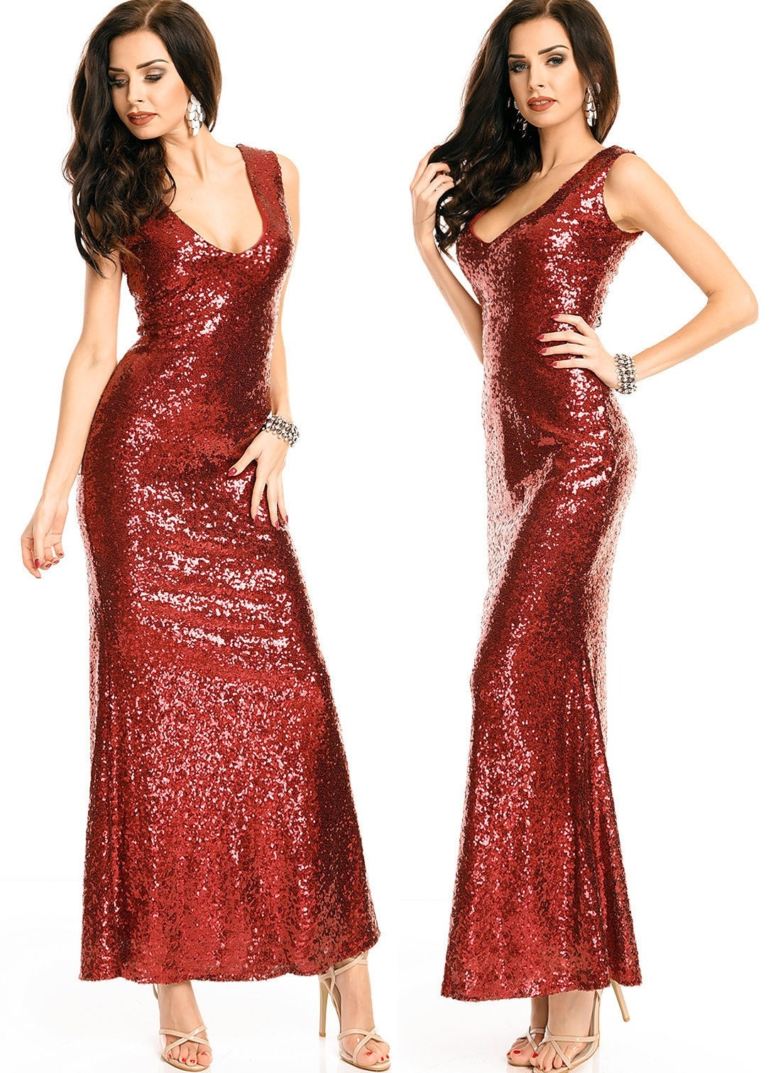 Formal Genial Abendkleid Rot Glitzer DesignFormal Perfekt Abendkleid Rot Glitzer Stylish