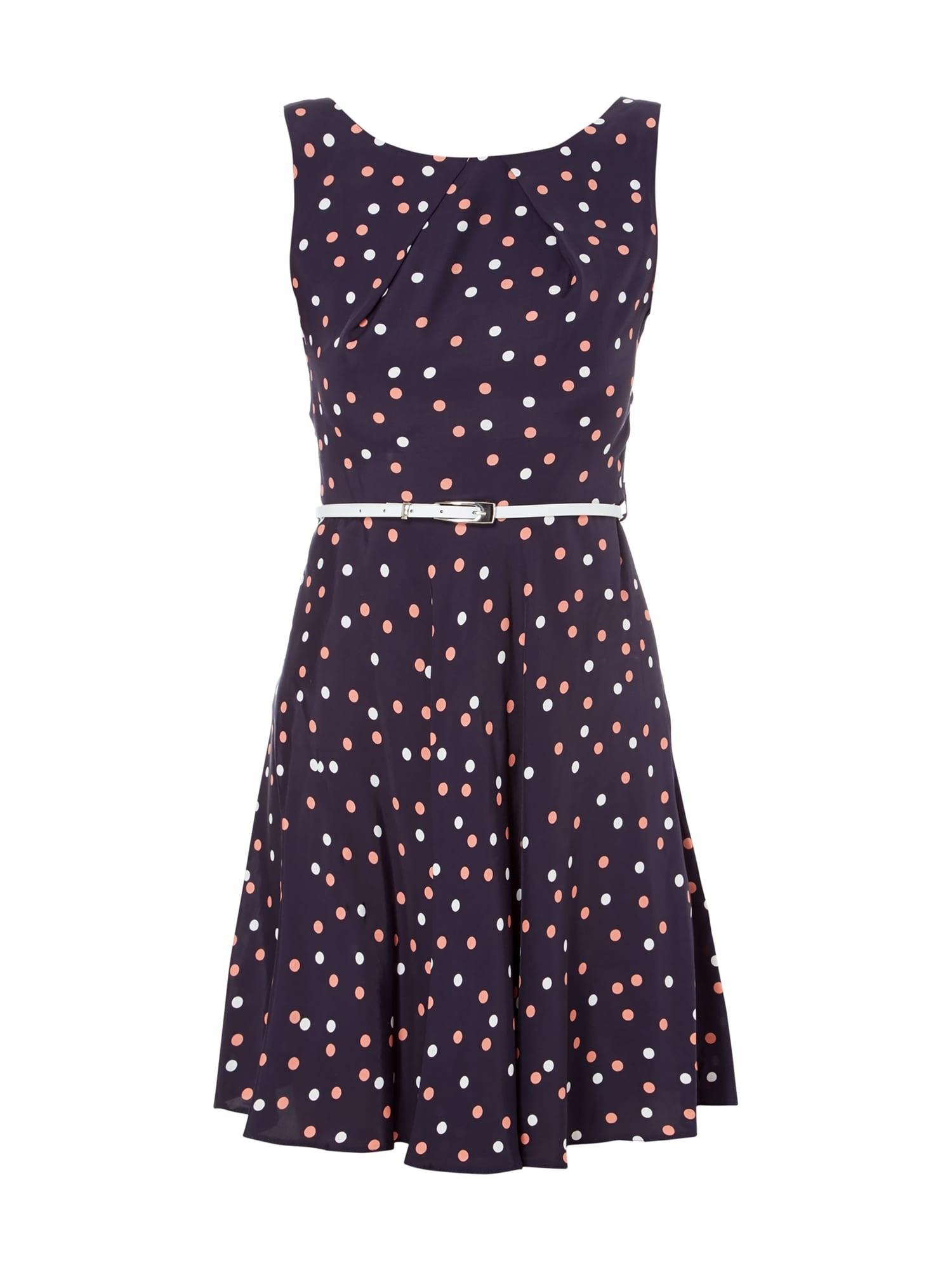 Formal Leicht Kleid Blau Punkte ÄrmelFormal Einzigartig Kleid Blau Punkte Ärmel