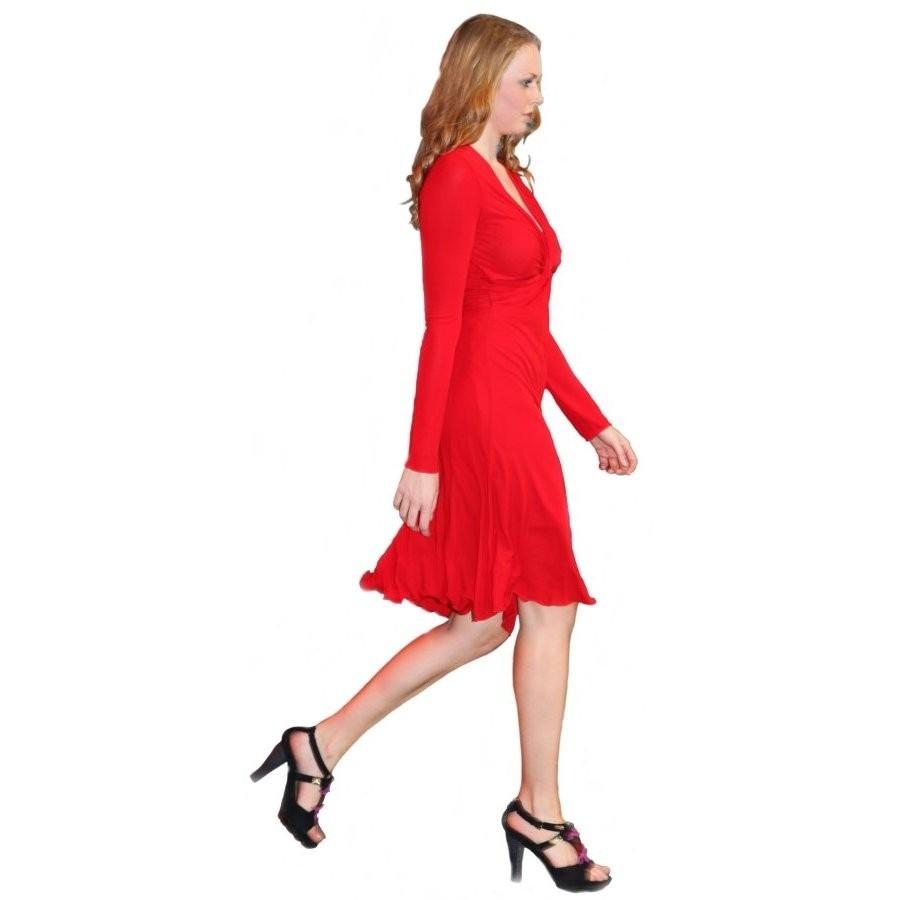 big sale 3bc83 9b2d5 Designer Wunderbar Rotes Kleid Langarm Galerie - Abendkleid