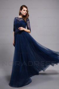 Abend Wunderbar Blaues Kleid Mit Ärmeln für 2019Abend Schön Blaues Kleid Mit Ärmeln Ärmel