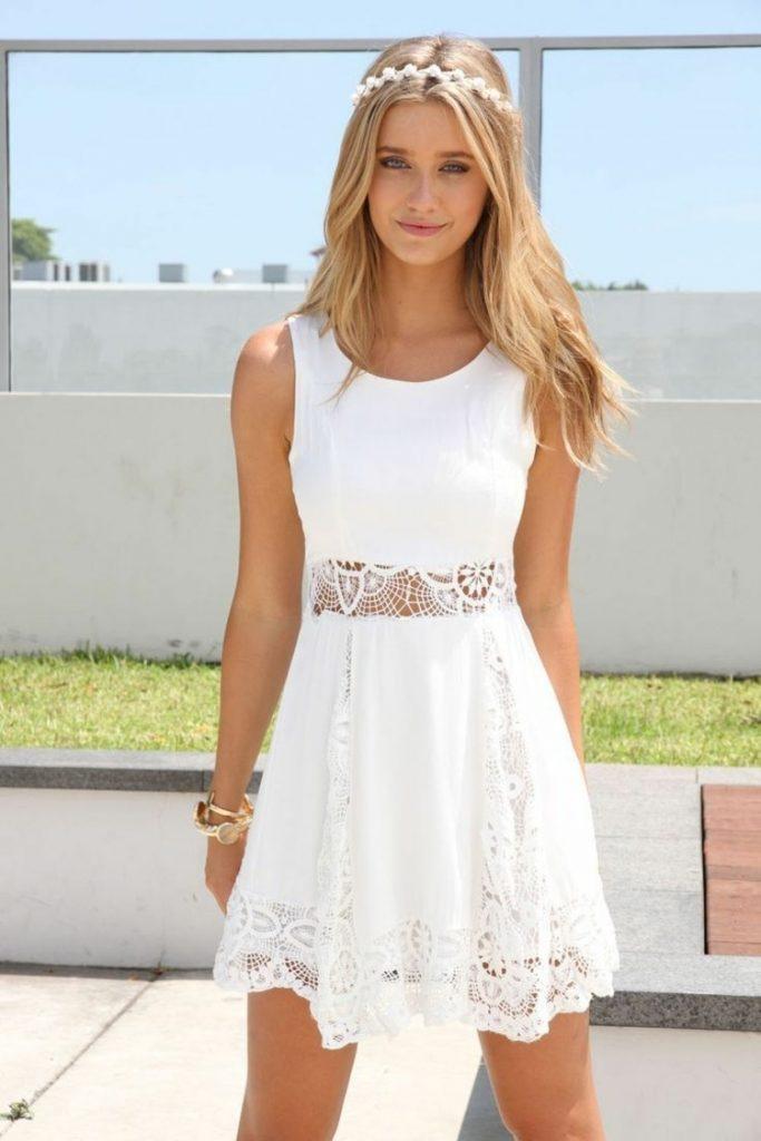 Fantastisch Weisses Kleid Elegant Stylish Abendkleid