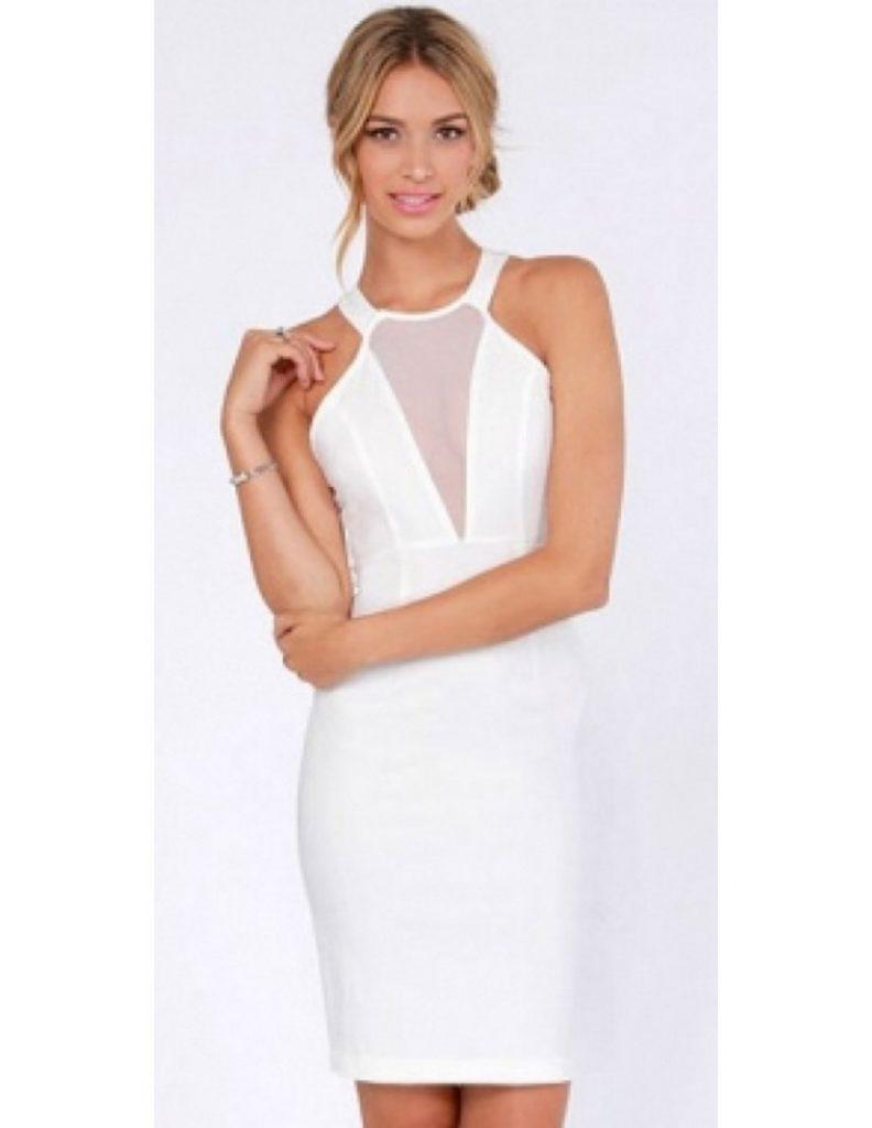 huge discount 0e957 fb7c4 Formal Ausgezeichnet Weißes Kleid Langarm Design - Abendkleid