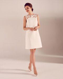 Abend Top Kleid Kurz Weiß Spitze Stylish13 Schön Kleid Kurz Weiß Spitze Stylish