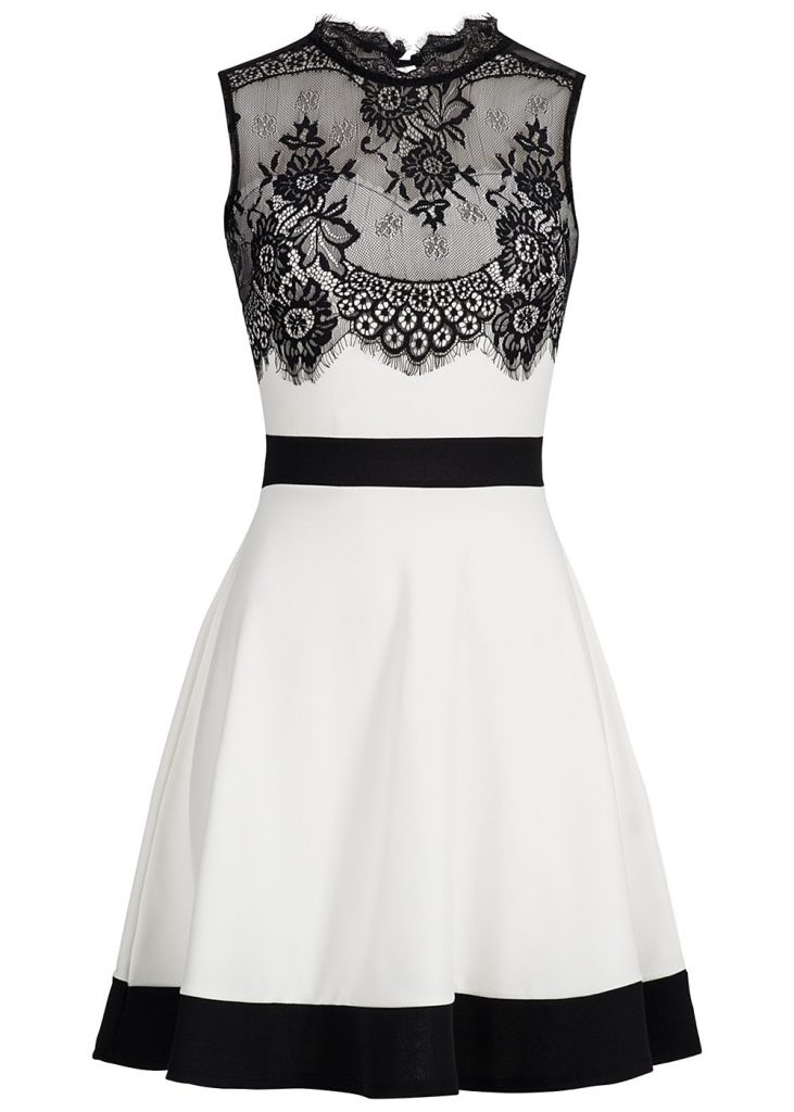 huge selection of 0ad82 e243e Formal Coolste Damen Kleid Schwarz Weiß Ärmel - Abendkleid