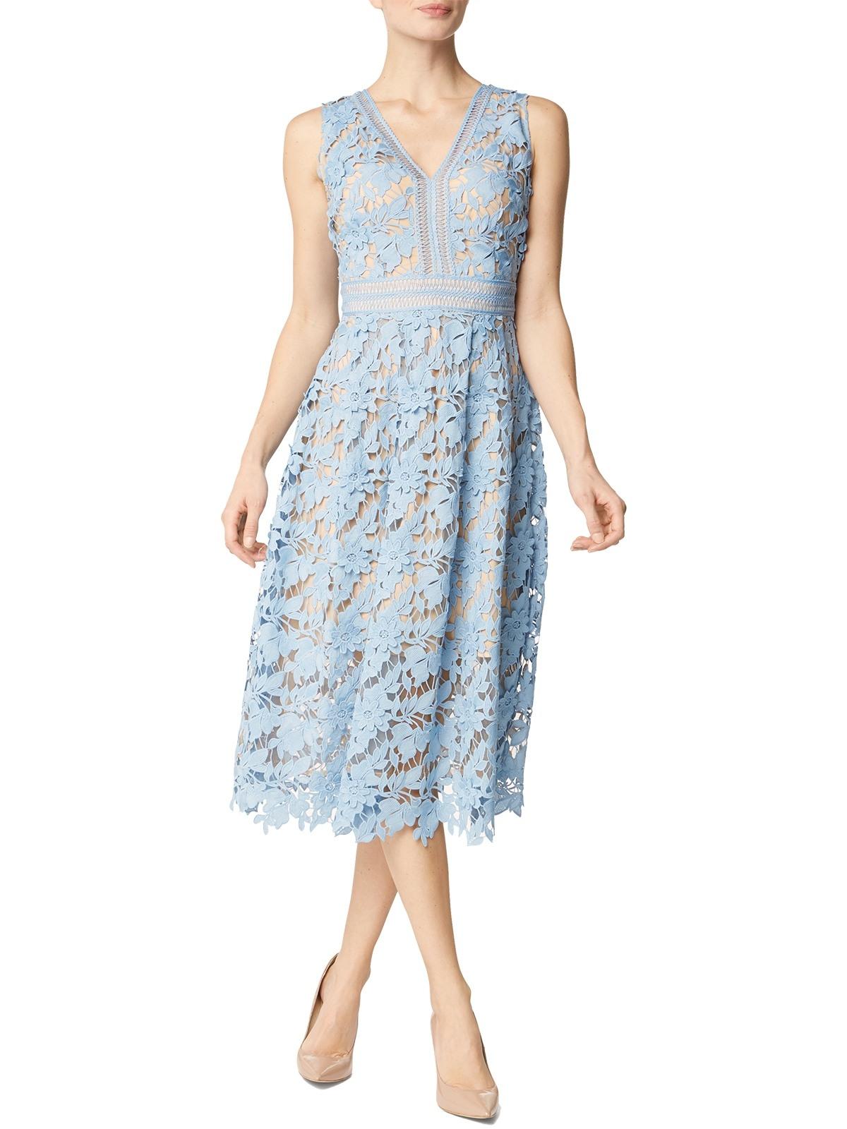 Designer Erstaunlich Kleid Hellblau Spitze SpezialgebietFormal Spektakulär Kleid Hellblau Spitze Spezialgebiet