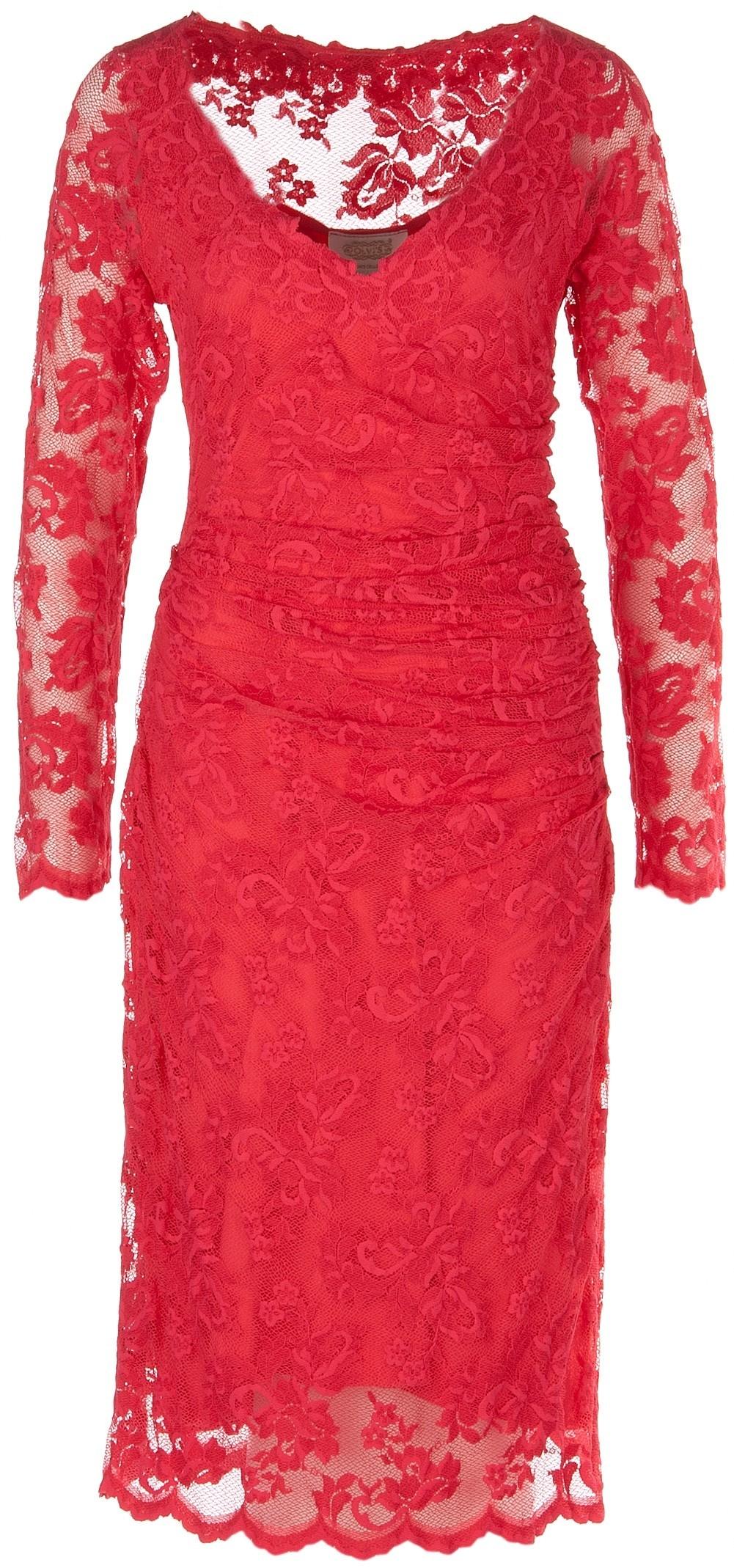 Formal Coolste Spitzenkleid Rot für 9 - Abendkleid