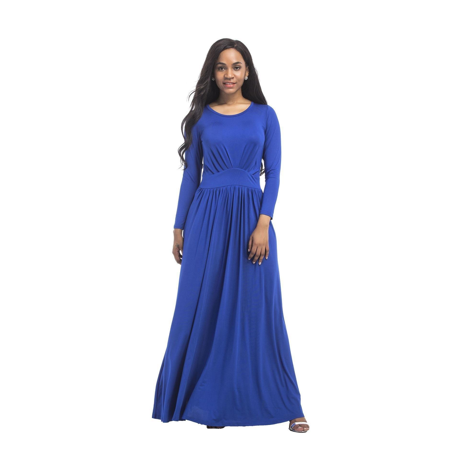 Formal Genial Kleid Lang Blau Bester Preis - Abendkleid