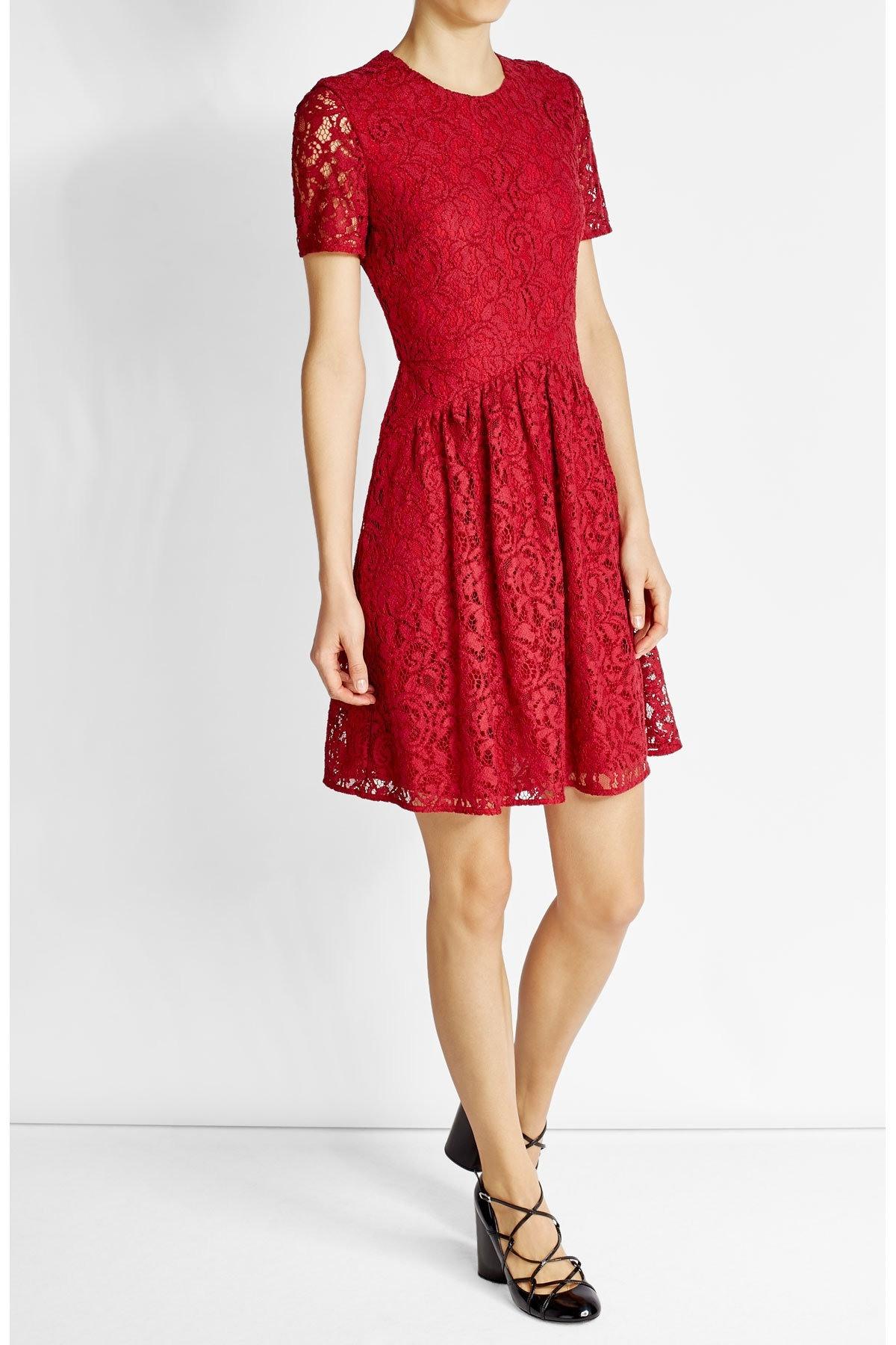 Spektakulär Kleid Rot Spitze DesignDesigner Großartig Kleid Rot Spitze Boutique