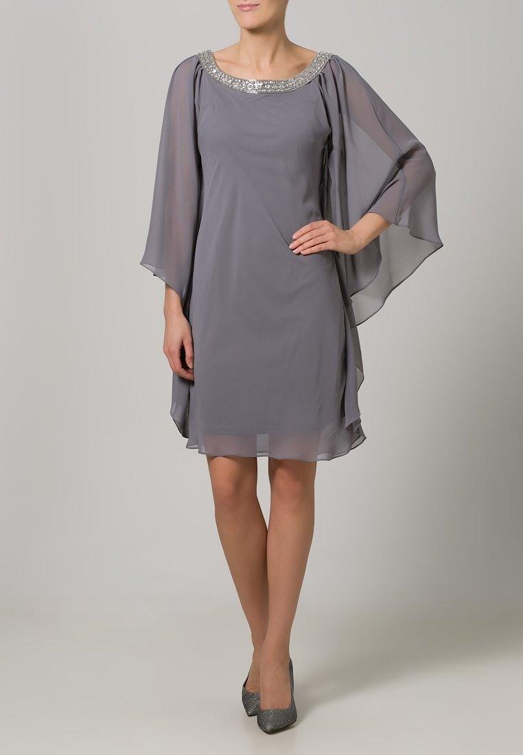 Formal Leicht Festliche Kleider Grau Boutique - Abendkleid