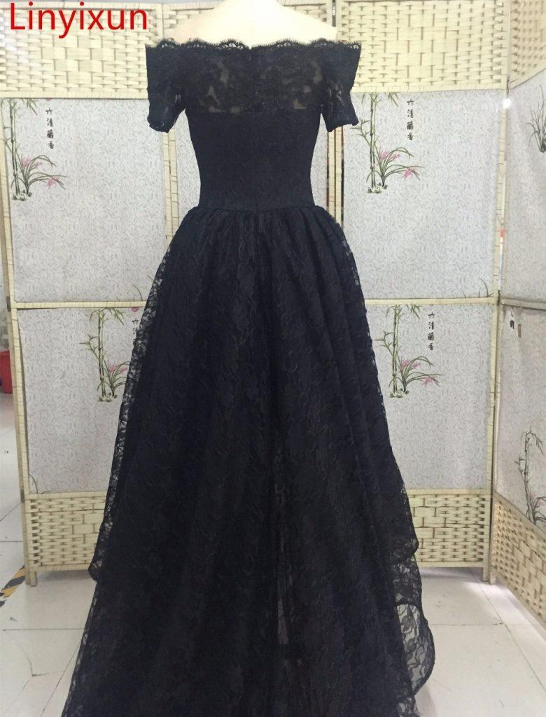 Formal Luxurius Ballkleid Schwarz Lang Vertrieb Abendkleid