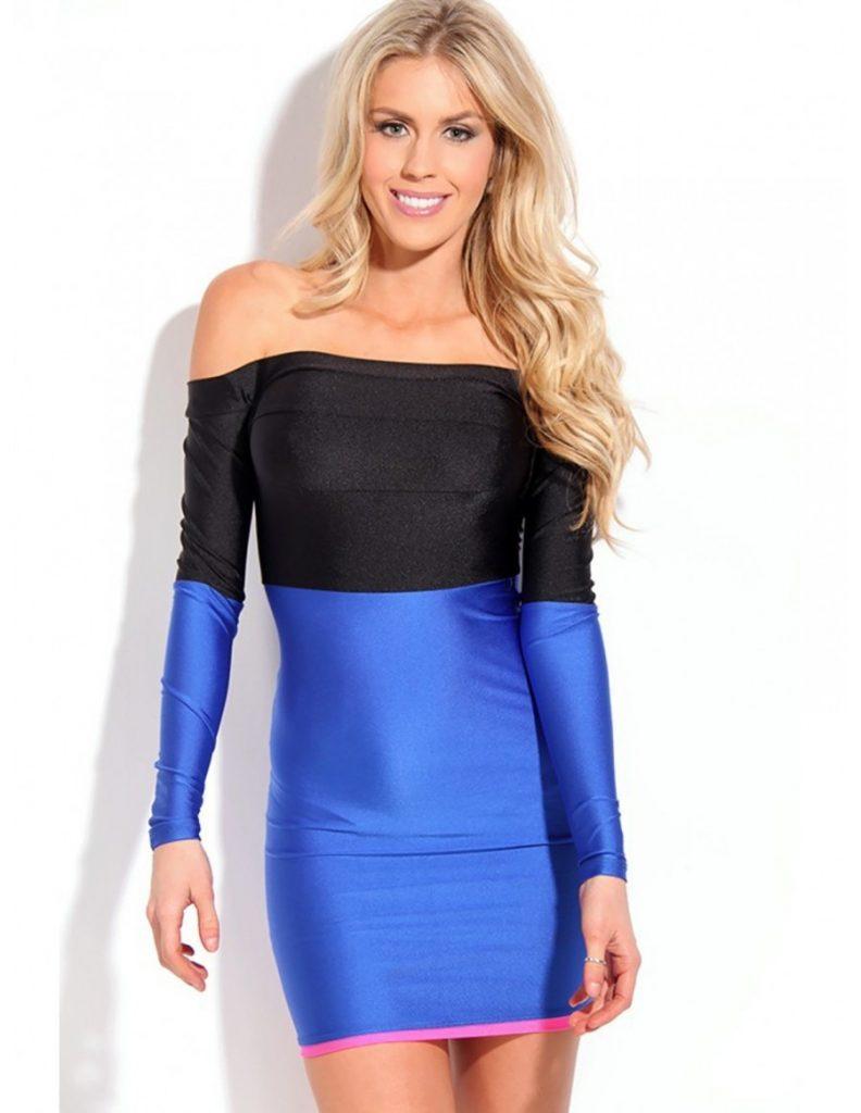 Formal Luxurius Blaues Kurzes Kleid Bester Preis - Abendkleid