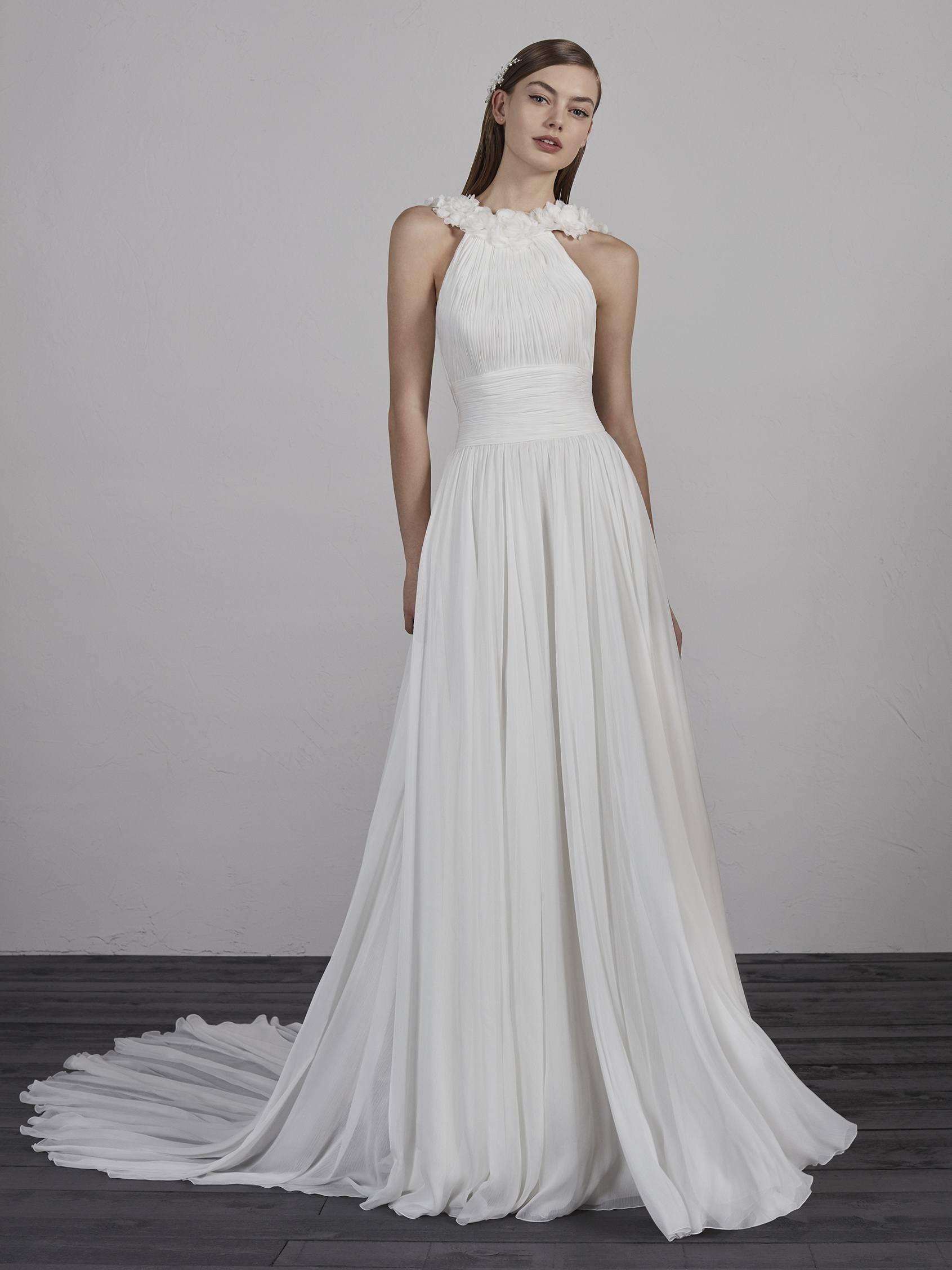 Abend Einfach Brautkleid Neckholder DesignAbend Coolste Brautkleid Neckholder Bester Preis