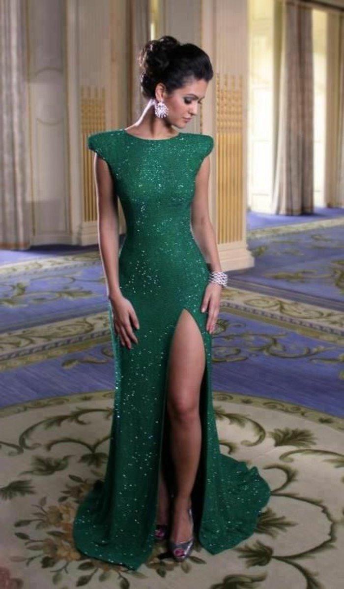 Abend Einzigartig Festliches Kleid Grün ÄrmelAbend Einzigartig Festliches Kleid Grün Spezialgebiet