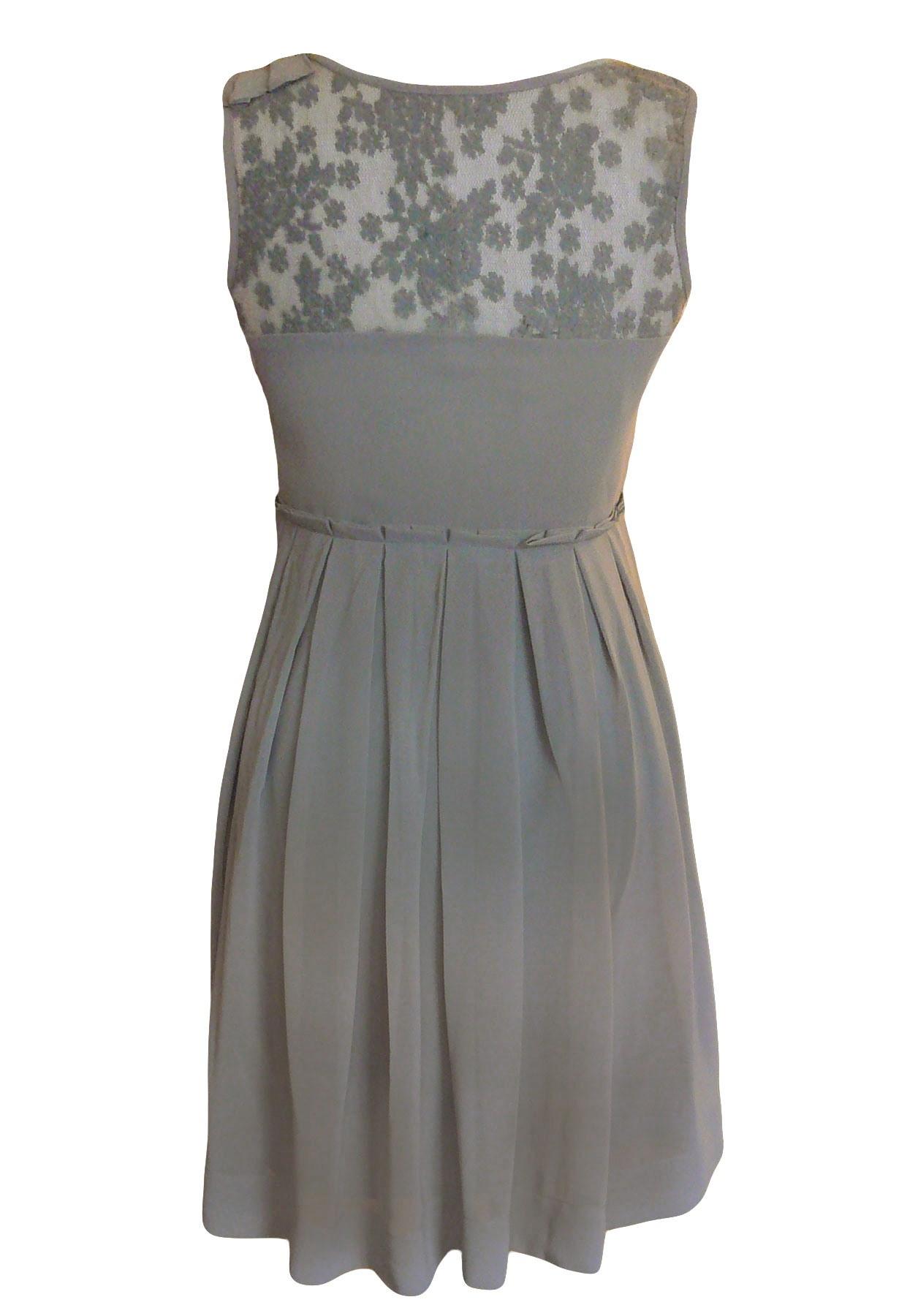 Formal Schön Kleid Grau Spitze Stylish Schön Kleid Grau Spitze Stylish