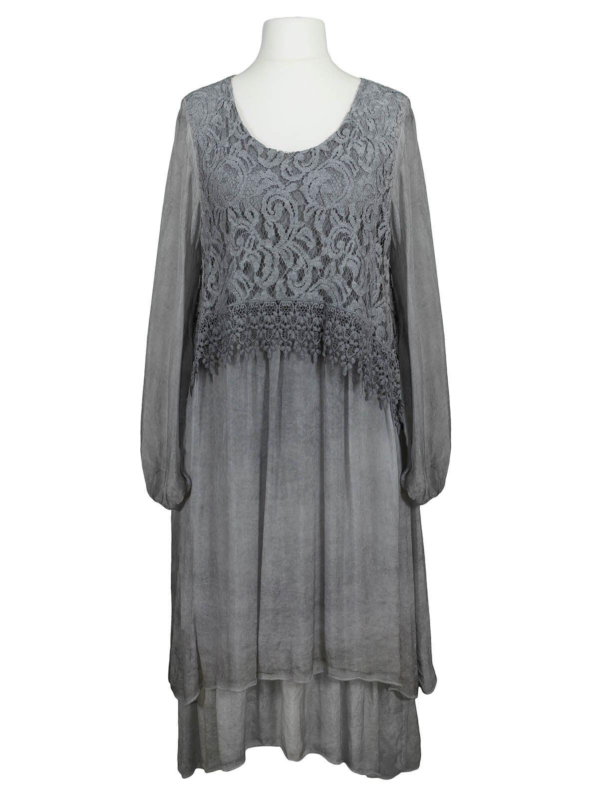 Formal Leicht Kleid Grau Spitze SpezialgebietDesigner Ausgezeichnet Kleid Grau Spitze für 2019