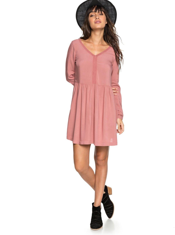 Formal Einfach Kleid Rosa Langarm für 201917 Schön Kleid Rosa Langarm Ärmel