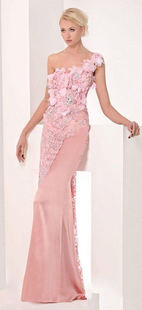 Formal Spektakulär Rosa Kleid Hochzeitsgast Design ...