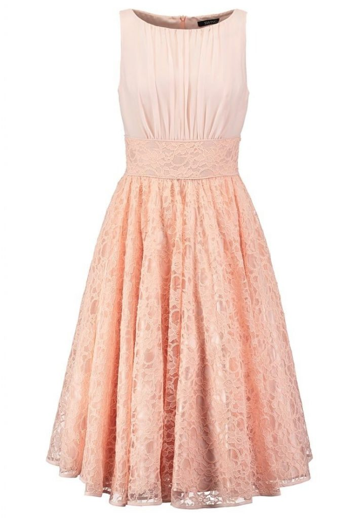 Genial Kleid Rosa Spitze Kurz Spezialgebiet - Abendkleid