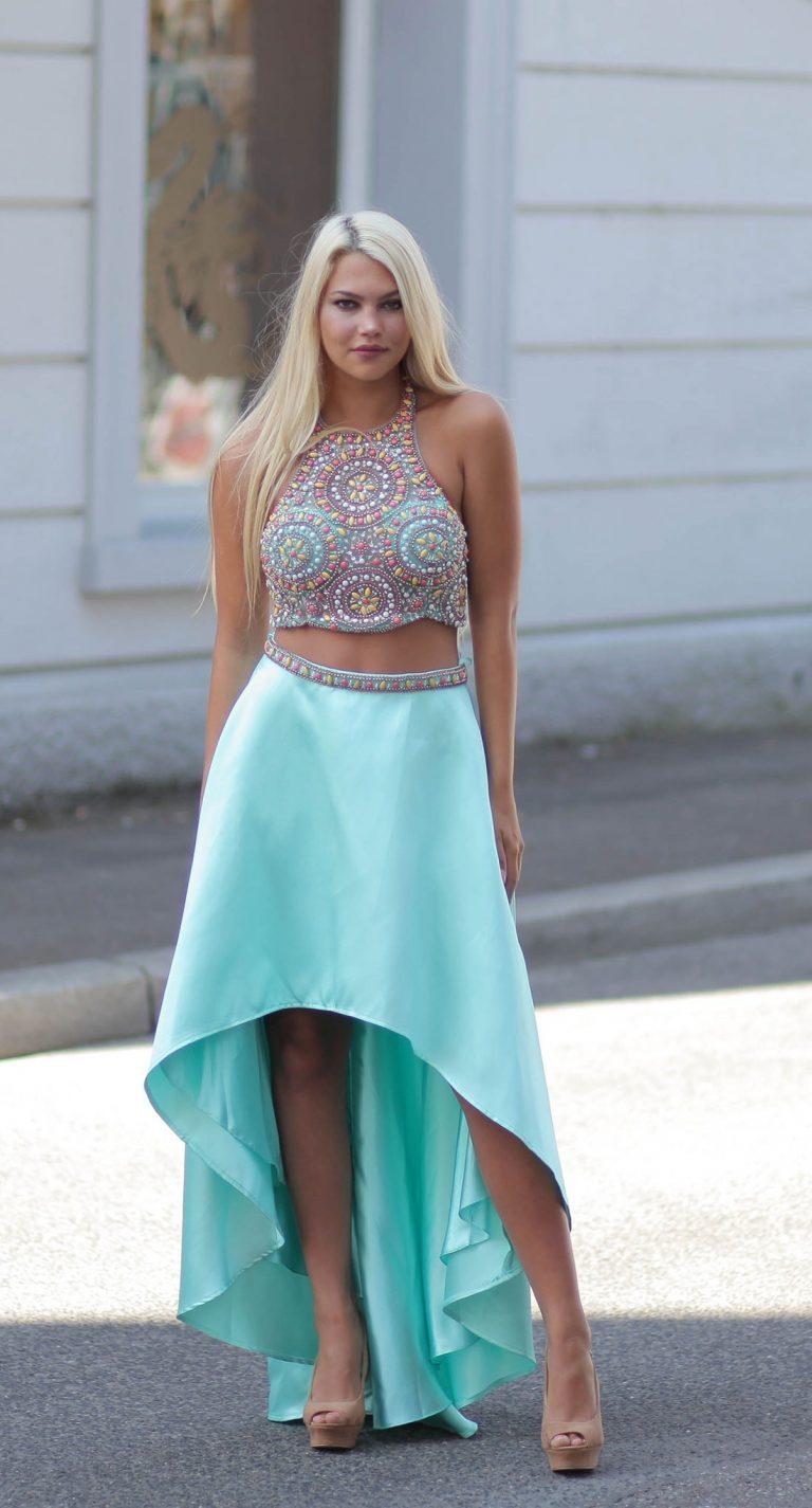 20 elegant kleider zweiteiliges abendkleid Ärmel  abendkleid