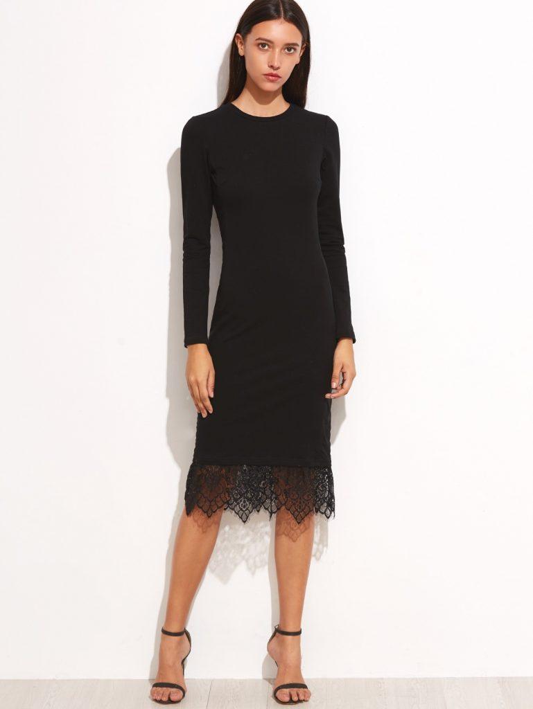 Großartig Kleid Schwarz Langarm für 20 - Abendkleid