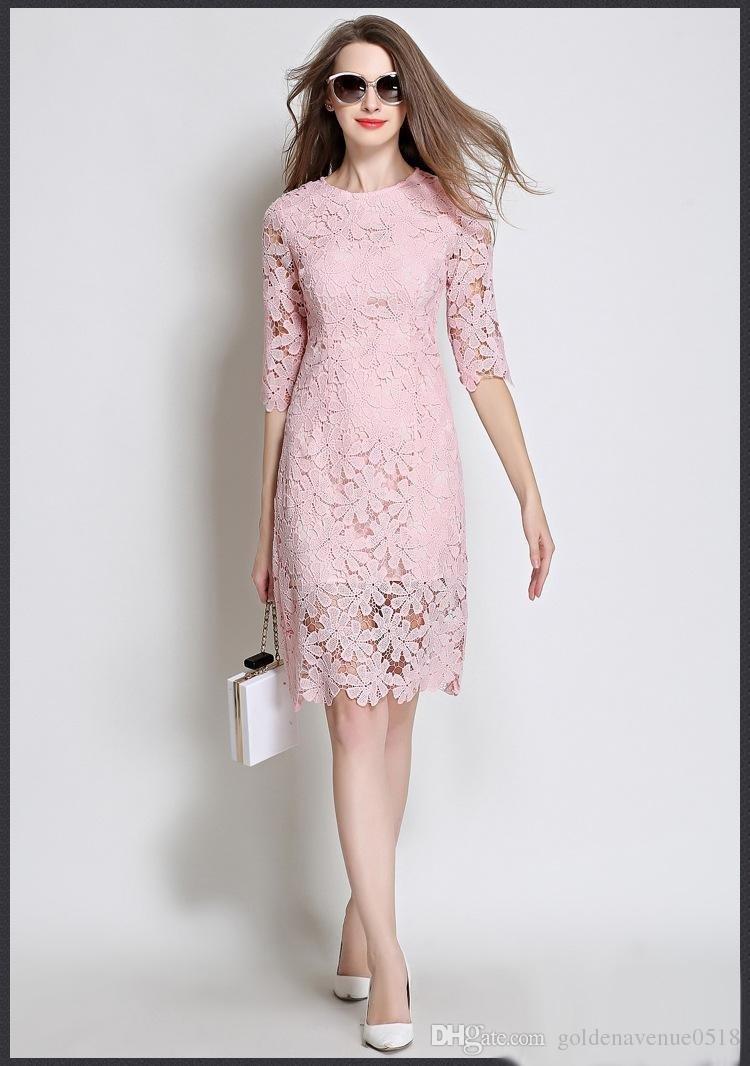 Designer Luxurius Kleid Spitze ÄrmelAbend Luxus Kleid Spitze Boutique