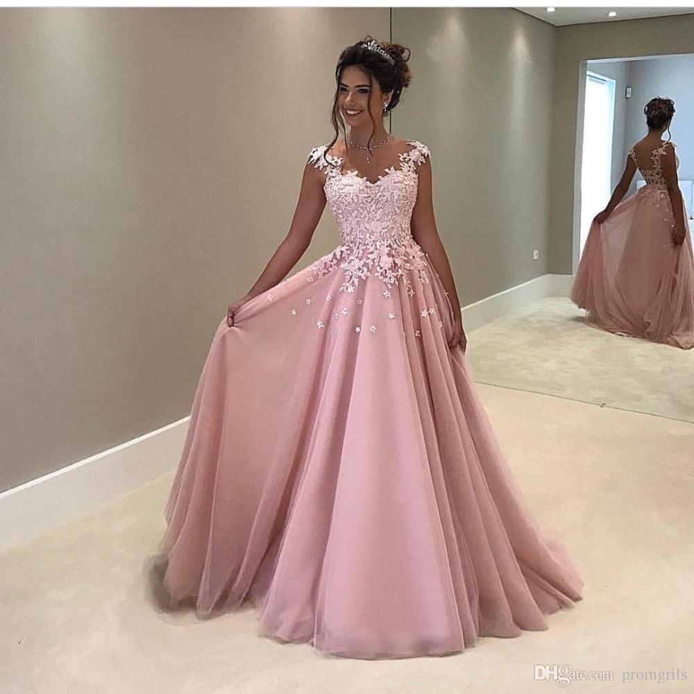 Kreativ Abendkleider Lang Rosa Günstig Design - Abendkleid