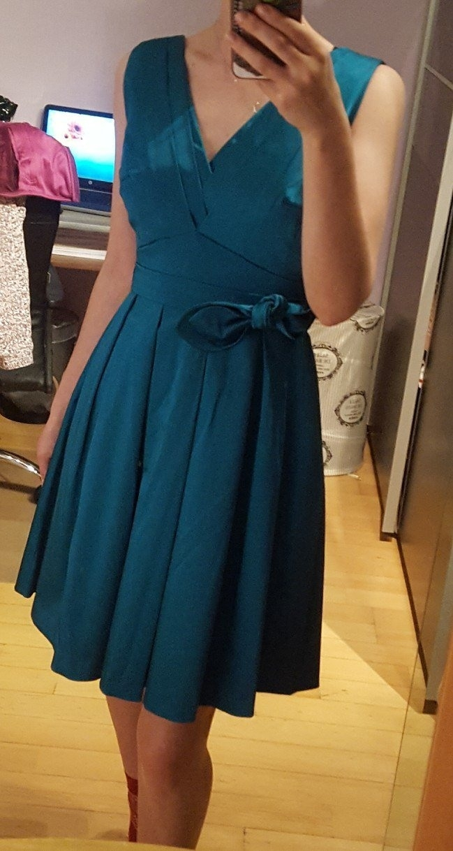 Designer Luxurius Kleid Grün Blau Boutique Elegant Kleid Grün Blau Bester Preis