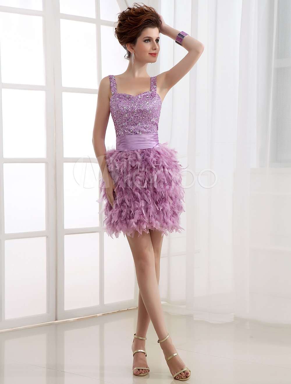 Kreativ Kleid Mit Federn Vertrieb - Abendkleid